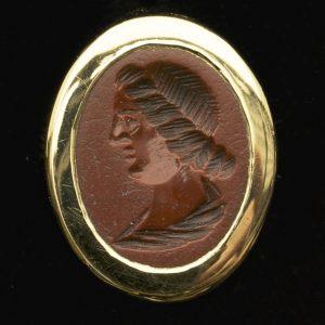 Ancient Roman jasper intaglio