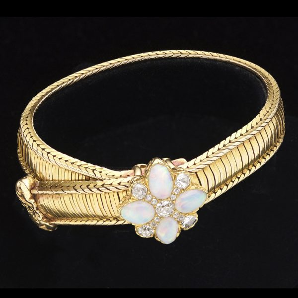 Antique victorian 18ct gold belt style bracelet