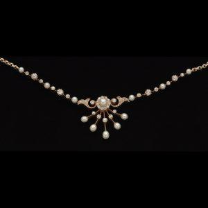 Edwardian 15ct gold necklace