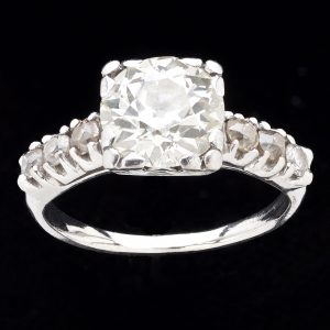 Antique platinum ring