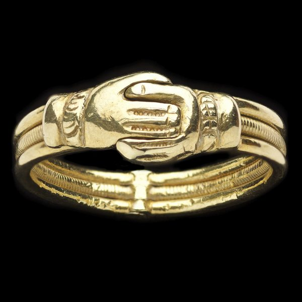 Antique 18ct gold three hoop gimmel ring