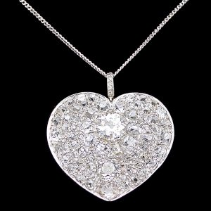 Diamond Heart shaped pendant 9.5cts