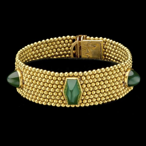 1950's French 18ct gold bracelet
