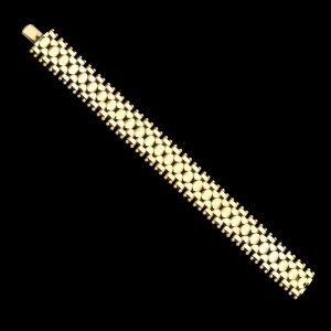 Art Deco 15ct gold flexible link bracelet