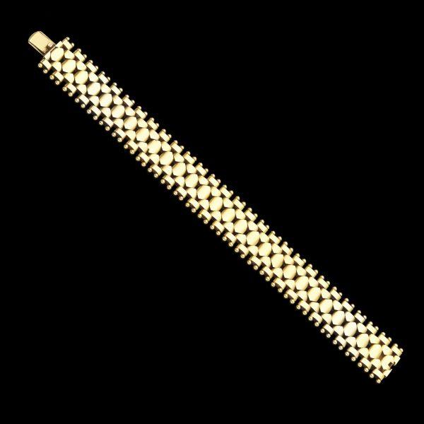 Art Deco 15ct gold flexible link bracelet