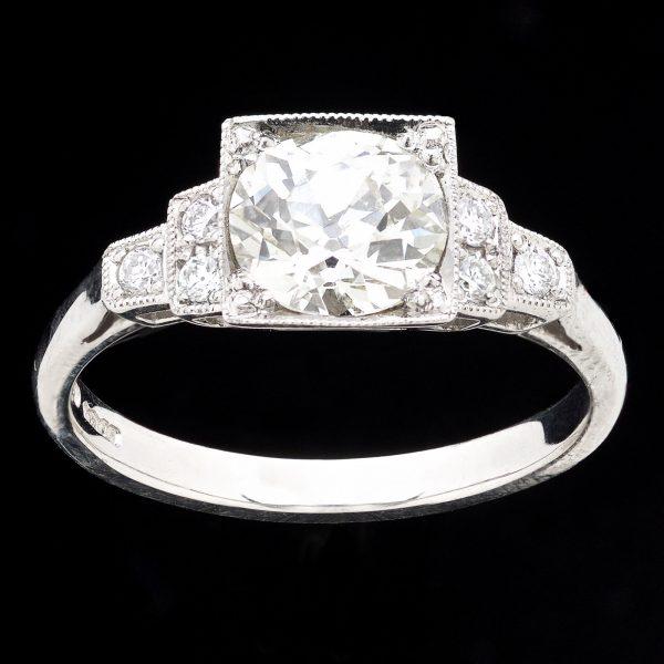 Classic platinum ring