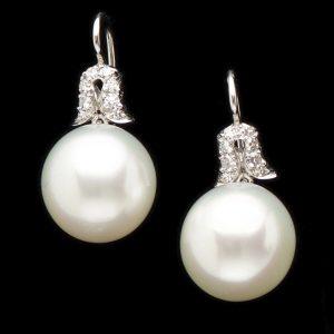 Fine 13mm South Sea pearl earrings
